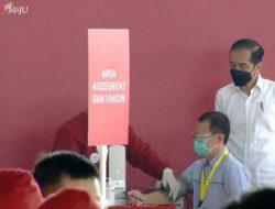 Tinjau Vaksinasi Gotong Royong Perdana, Ini Harapan Jokowi