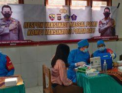 Cegah Covid -19, Masyarakat Badung Melaksanakan Vaksinasi Massal