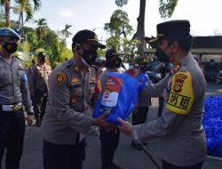 Polres Badung Salurkan Bantuan 5 Ton Beras