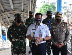 Pangdam Jaya Tinjau Penyekatan PPKM Darurat di Jalan Mampang Raya