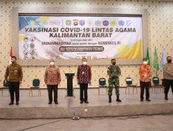 Pangdam Tanjungpura dan Forkopimda Tinjau Vaksinasi Covid-19 Lintas Agama