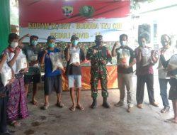 Kodim Tabanan Salurkan Bansos Tahap II Kodam IX/Udayana dan Yayasan Buddha Tzu Chi