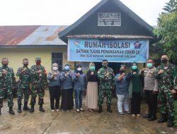 Kapendam XII/Tpr Tinjau Posko PPKM dan Rumah Isolasi Desa Teluk Kapuas