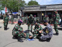 Prajurit Lantamal XII Latihan Hanlan dan PHH