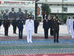 Danlanud Supadio Ikuti Upacara HUT ke-76 TNI di Kodam XII/Tpr